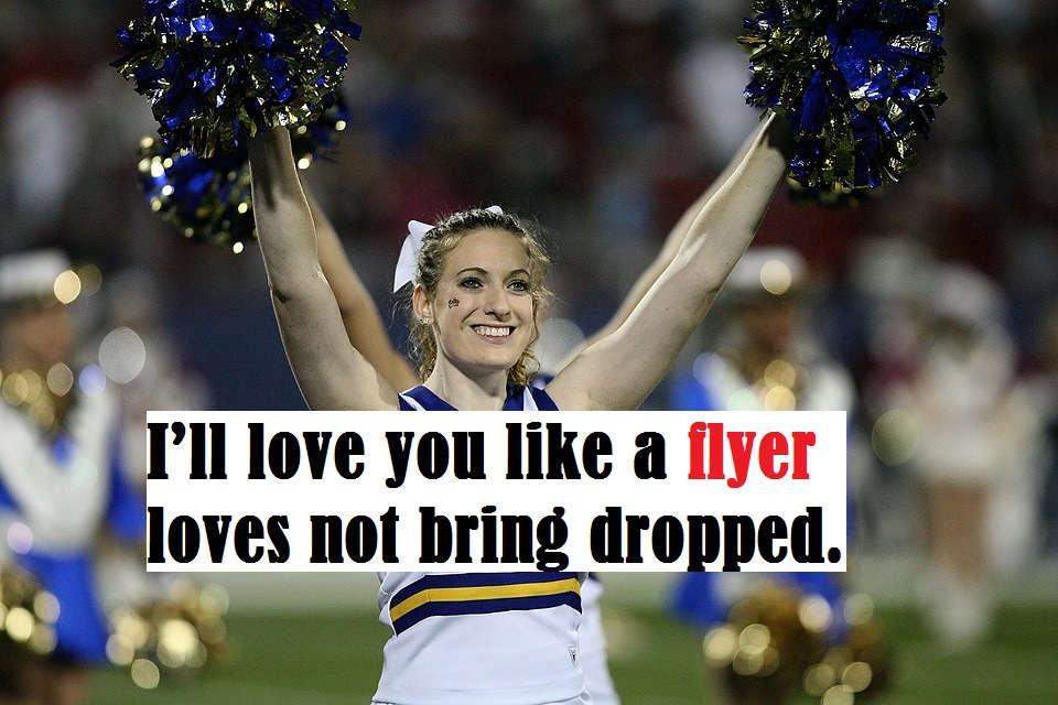 Cheerleading pick up lines